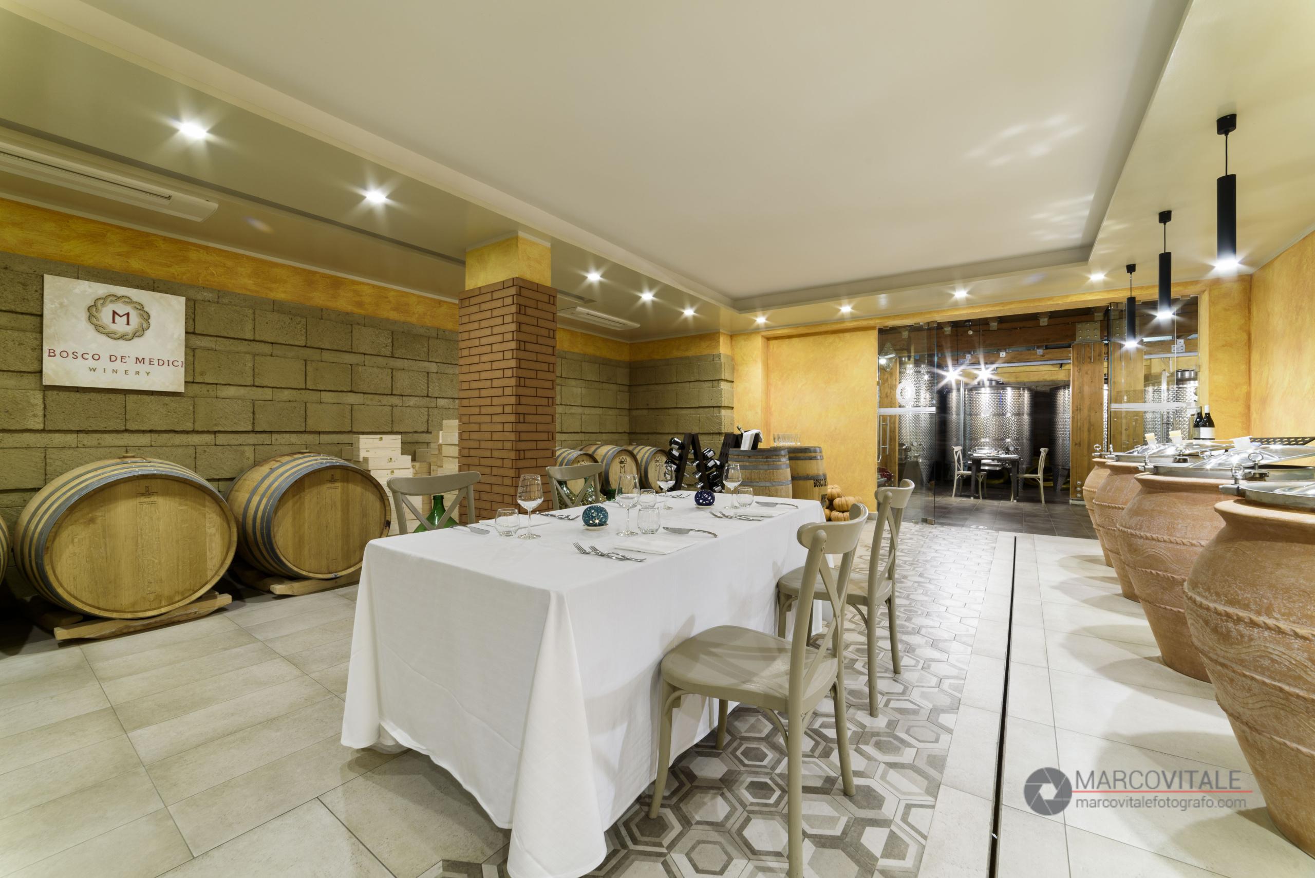 Servizio fotografico per ristorante Bosco de Medici Winery Pompei