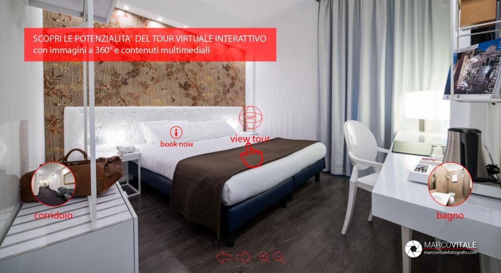 realizzare un Tour virtuale interattivo per hotel, bed and breakfast, casa vacanze, agriturismo