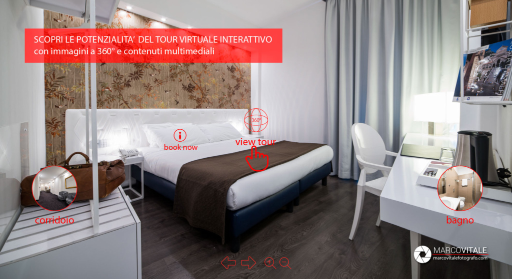 realizzare un Tour virtuale interattivo per hotel, bed and breakfast, casa vacanze, agriturismo